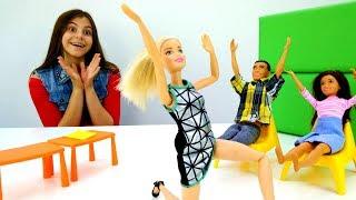 Мультики для девочек - Барби на экзамене - Видео про кукол