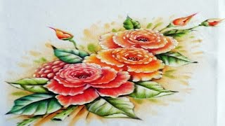 Rosas de Ano Novo Por Adilson G Amaral – Pintura em tecido