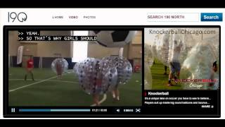 Knockerball Chicago™  on ABC TV 190 North Having Fun Playing Bubble Soccer™