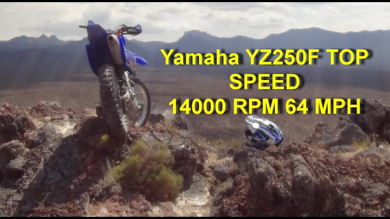 Yamaha YZ250F TOP SPEED Geared LOW for TORQUE - YouTube