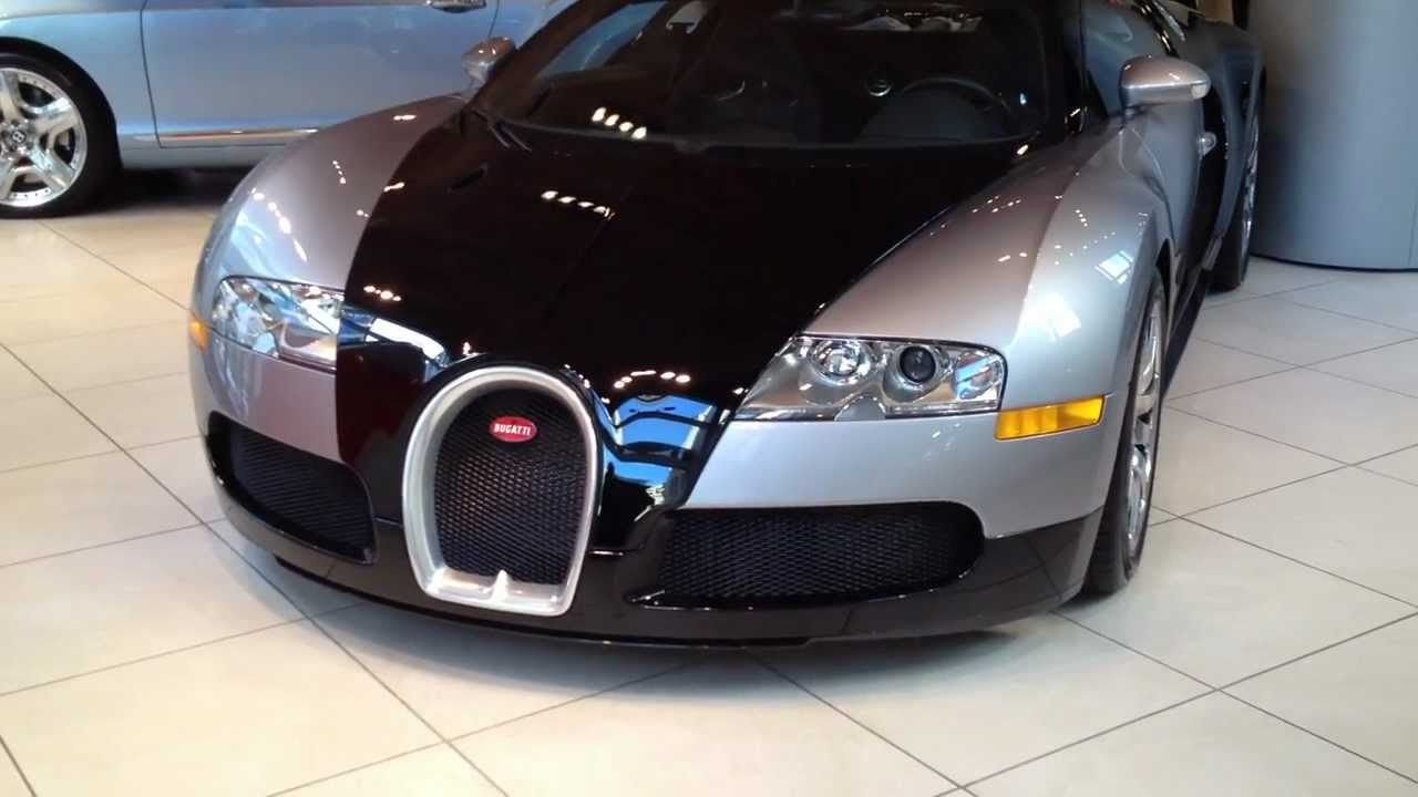 bugatti veyron in chicago dealership youtube. Black Bedroom Furniture Sets. Home Design Ideas