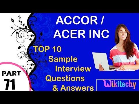 accor | acer inc most interview questions and answers for freshers