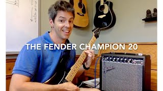 Fender Champion 20 Guitar Amp Review (Unboxing and Settings DEMO)