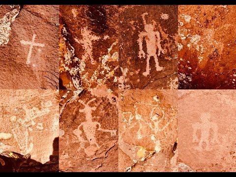 Ancient Corn and Funny Dog Found by Bigfoot, Ant People, Aliens and Bigfoot Print Petroglyps