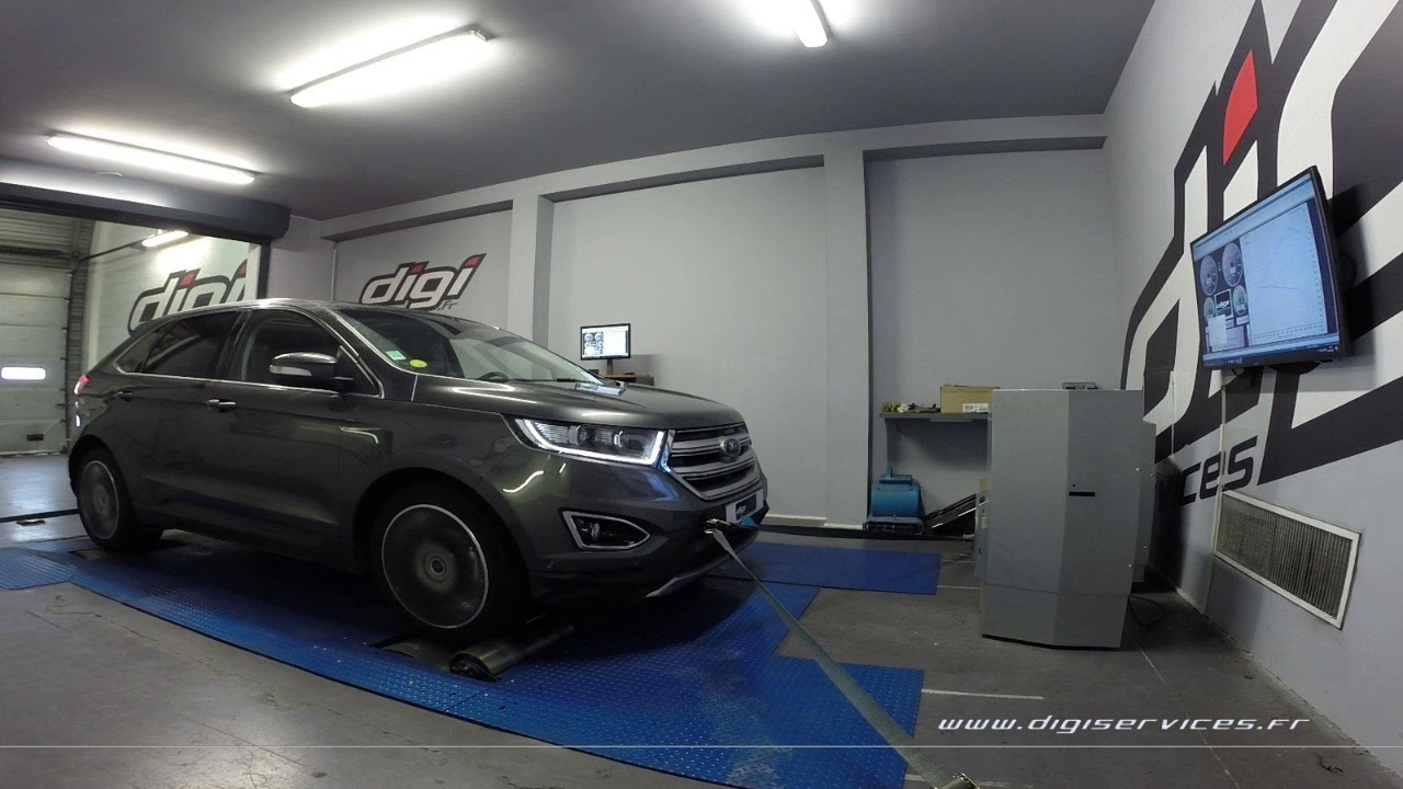 ford edge 2 0 tdci 180cv reprogrammation moteur 208cv digiservices paris 77 dyno youtube. Black Bedroom Furniture Sets. Home Design Ideas
