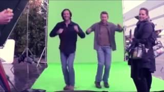Приколы со съемок 11-го сезона Сверхъестественное