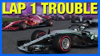 F1 2018 Career Mode : LAP 1 TROUBLE!! (Part 23)
