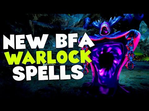 ALL NEW BFA 8.0 Warlock Animations: All Specs w/ GREEN FIRE!