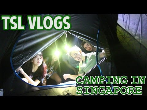 CAMPING IN SINGAPORE'S EAST COAST PARK! | TSL Vlogs