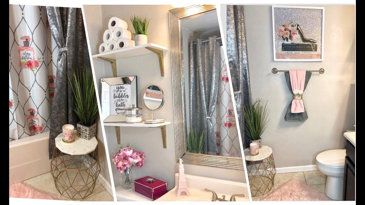 Pink Glam Bathroom Refresh Tour 150 Budget Bathroom Decor