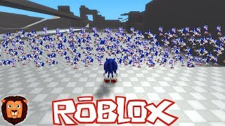 1 MILLON OF SONIC IN ROBLOX SONIC WORLD ADVENTURE IN ROBLOX LEON PICARON