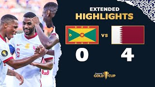 Extended Highlights: Grenada 0-4 Qatar  Gold Cup 2021