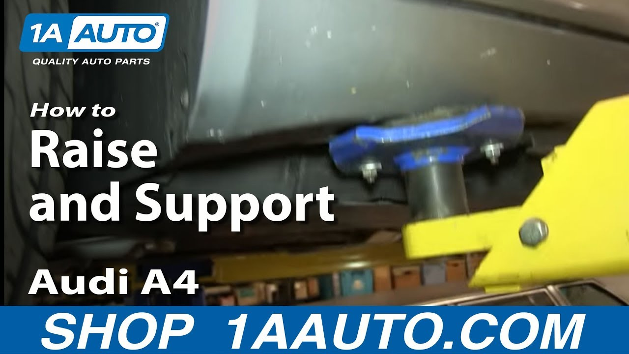 Where To Jack Up Lift And Support Audi A YouTube - Audi car jack instructions