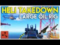 Taking Down the PATROL HELICOPTER on the LARGE OIL RIG! - Rust