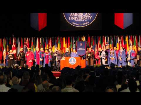 The National Anthem at the 2015 AU School of Communication Commencement