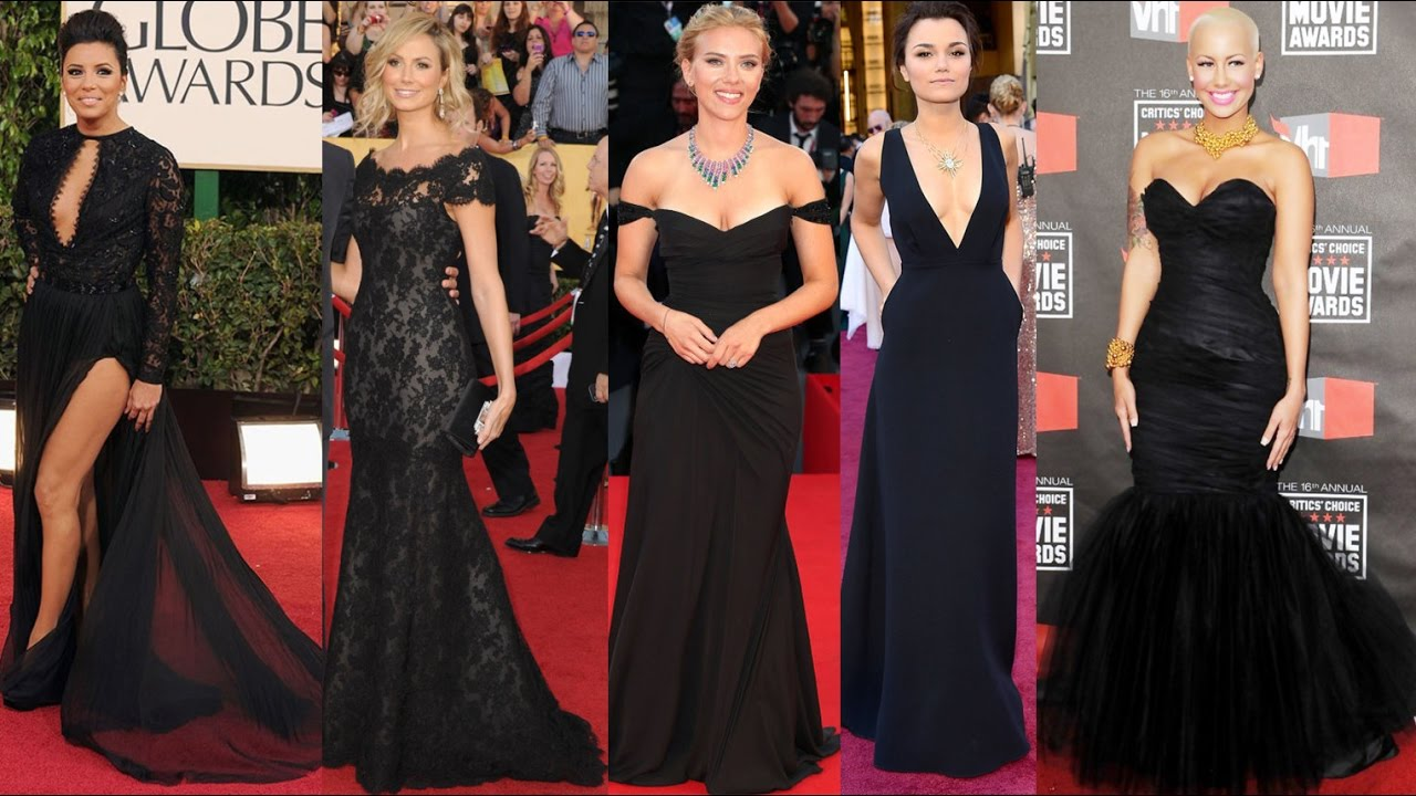 Celebrity Black Dresses | Weddings Dresses