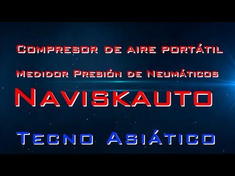 Compresor De Aire Portátil Medidor Presión De Neumáticos Naviskauto