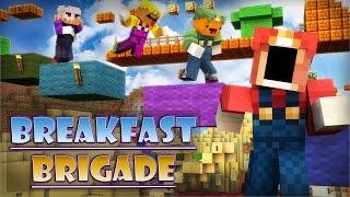 Minecraft Breakfast Brigade : EPIC JUMP MAP MARIO EDITION!