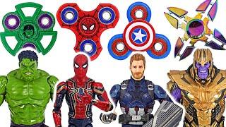 Фото Avengers Fidget Spinner Hulk Spider-man Vs Thanos  Dudupoptoy
