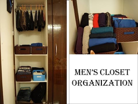Men's Closet Organization | How To Organize Closet | Wardrobe Organization | In Telugu|Indian Closet