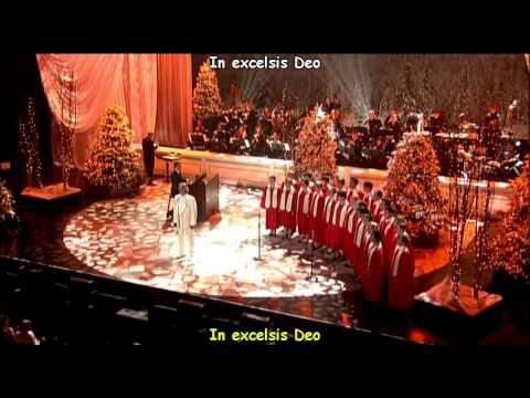 Andrea Bocelli  Gloria In Excelsis Deo W lyrics, c letra subtitulos en Español