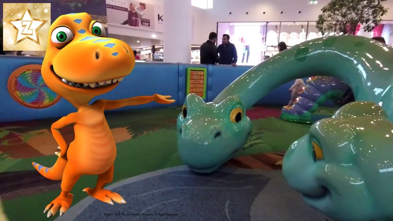 Outdoor Playground Fun For Kids In The Park Slides With Dinosaurs