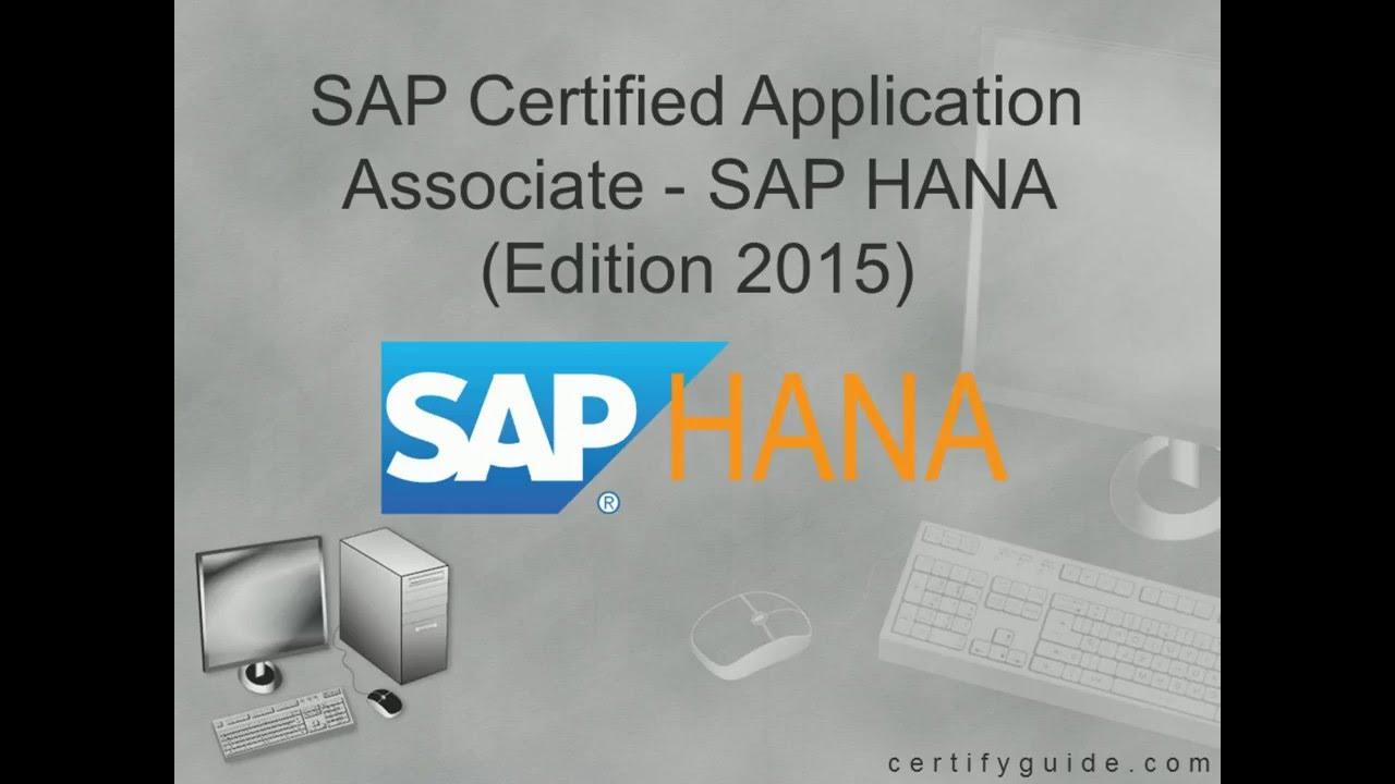 Chanaimp151 Sap Hana Certification Exam Certifyguide Exam Video