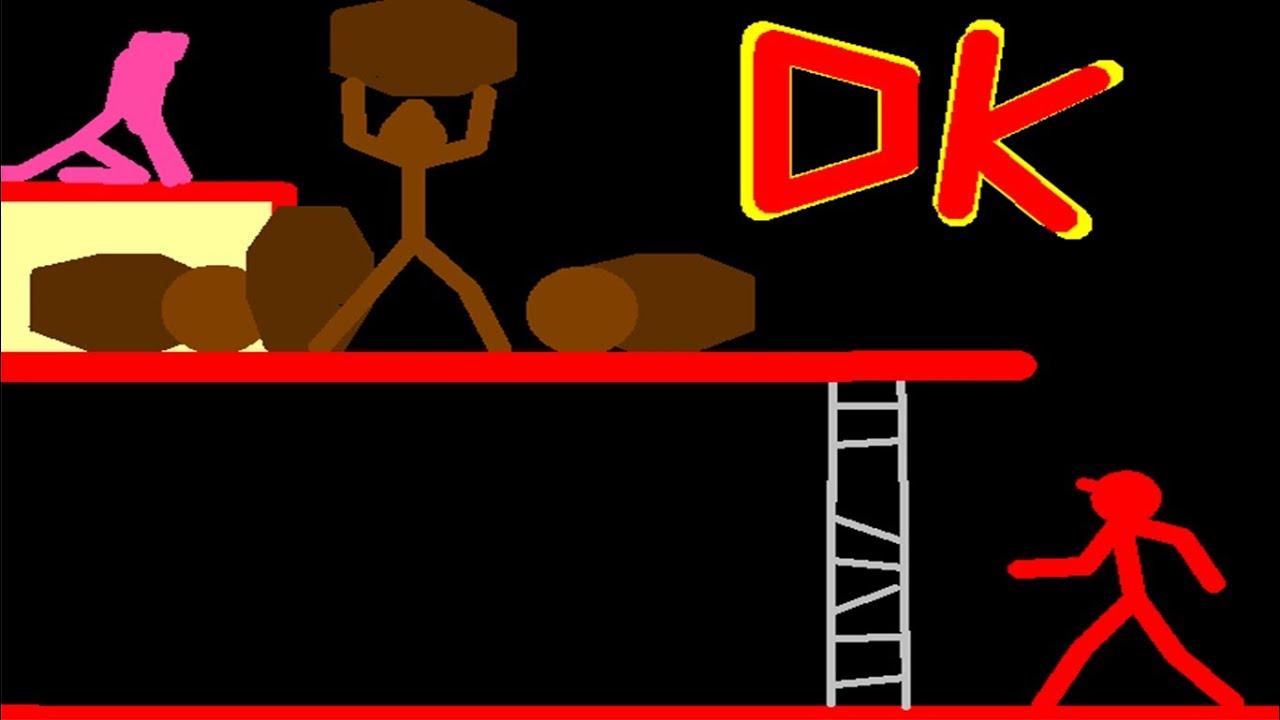 Donkey Kong arcade stickman version