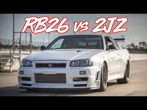 RB26 VS 2JZ THE LEGENDARY BATTLE! R34 VS TESLA BONUS