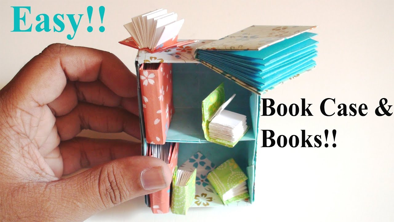 easy origami book amp bookshelf youtube