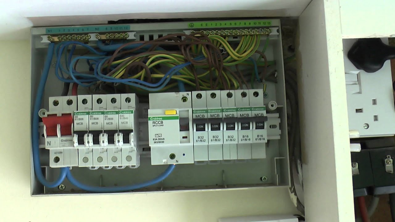 maxresdefault mains supply and consumer unit youtube wylex rcbo wiring diagram at virtualis.co