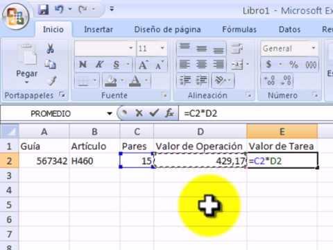 Sumar y Multiplicar con Excel