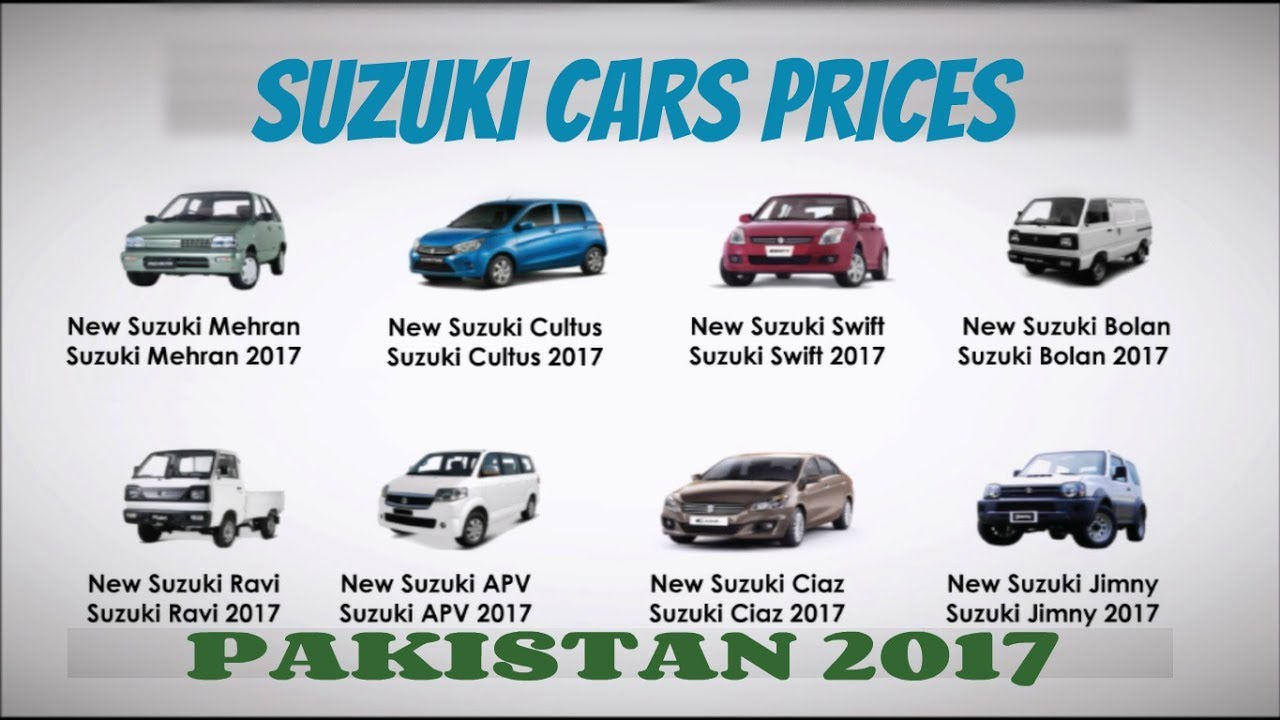 Suzuki All Cars Prices Features In Pakistan Details 1 2 Youtube