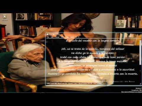 Pilar Iglesias Nicolás recita con esta sola boca poema de OLGA OROZCO