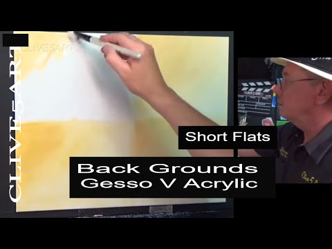 Gesso v Acrylic Back grounds | Acrylic painting, clive5art