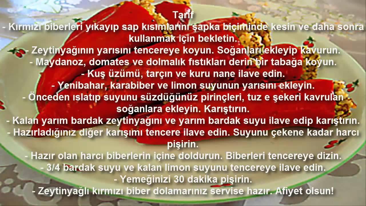 Zeytinyağlı Kırmızı Biber Dolması Videosu