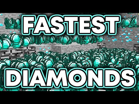 FASTEST & EASIEST Way To Find DIAMONDS In Minecraft!