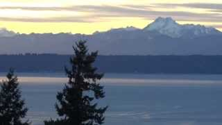 Olympic Mountain Range Sunset in Washington