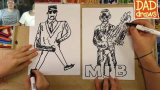 How to draw a Men in Black