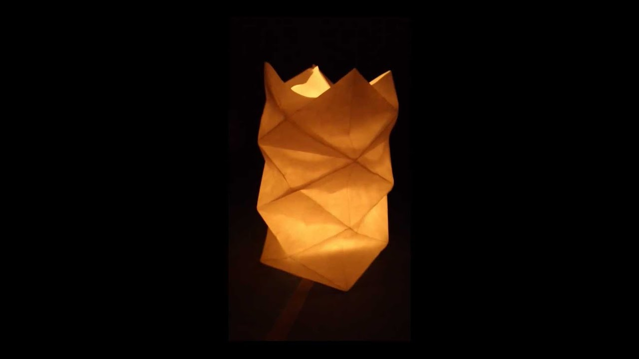 How To Fold An Origami Style Diamond Shape Lamp