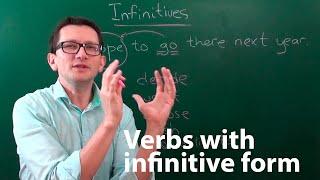 Инфинитивы (infinitives) в английском языке