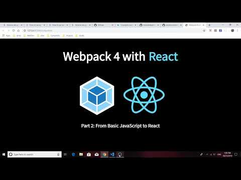 Webpack 4 with React: Part 2 - From Basic JavaScript to React thumbnail