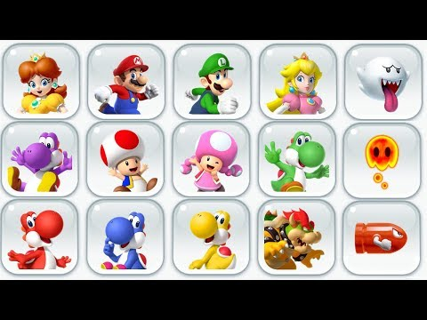 Super Mario Run - All Characters - New Character (Princess D