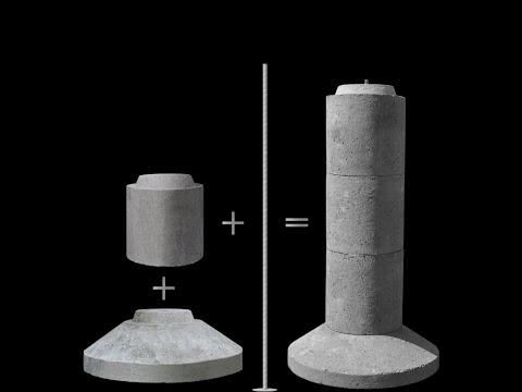 EZ-TUBE Precast Concrete Modular Footing
