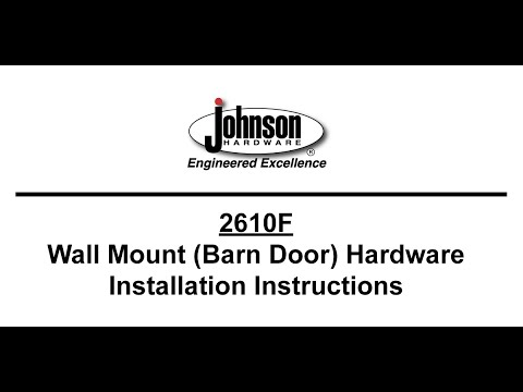 2610F Wall-Mounted Hardware Instruction Video