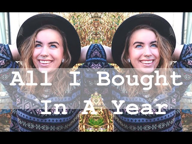 All I Bought In A year // Second Hand Clothing // The Zero Waste Lifestyle