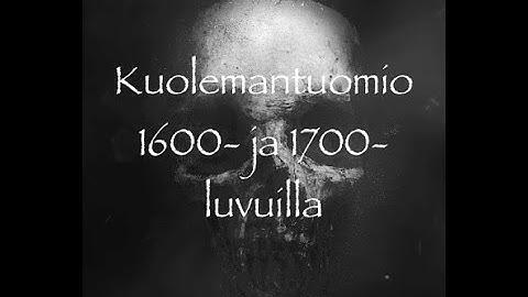 Ankarin rangaistus 1600- ja 1700-luvuilla