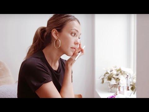 Jessica Alba's PreMakeup Skincare Tutorial