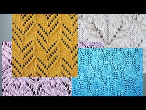Интересные Ажурные узоры спицами- 3 со схемами. Вязание Knitting Knitted Diy