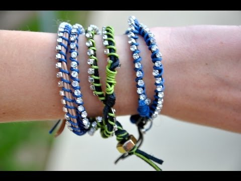 Diy Leather Wrap Bracelets Youtube